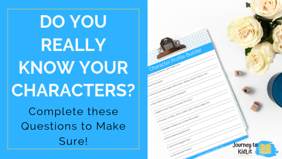 Get to know your book characters   character profile card