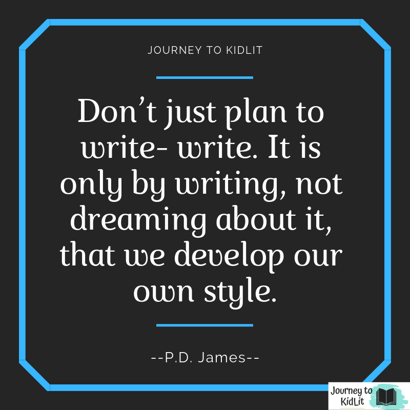 Writing Quotes PD James