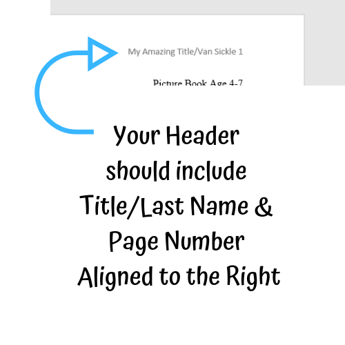 Formatting Your Children's Manuscript Header