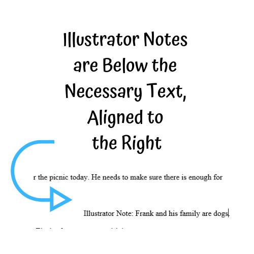 Formatting Your Children's Manuscript Illustrator Notes