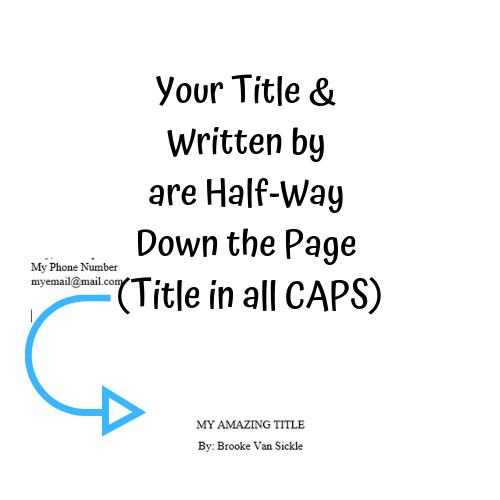 Formatting Your Children's Manuscript Title