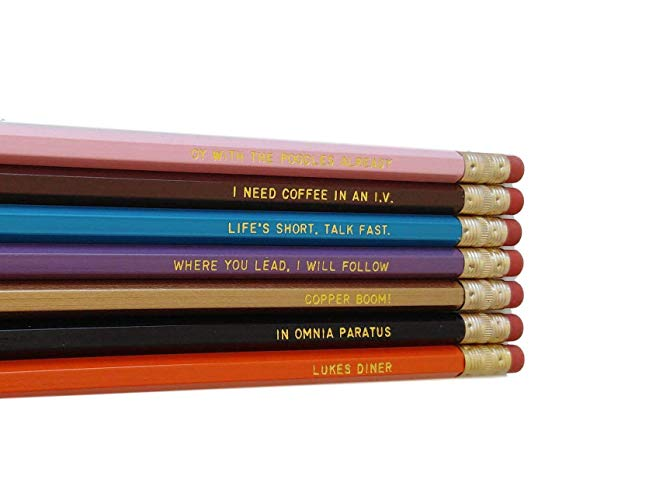 Mother's Day Gifts for Writers   Gilmore Girls Pencils