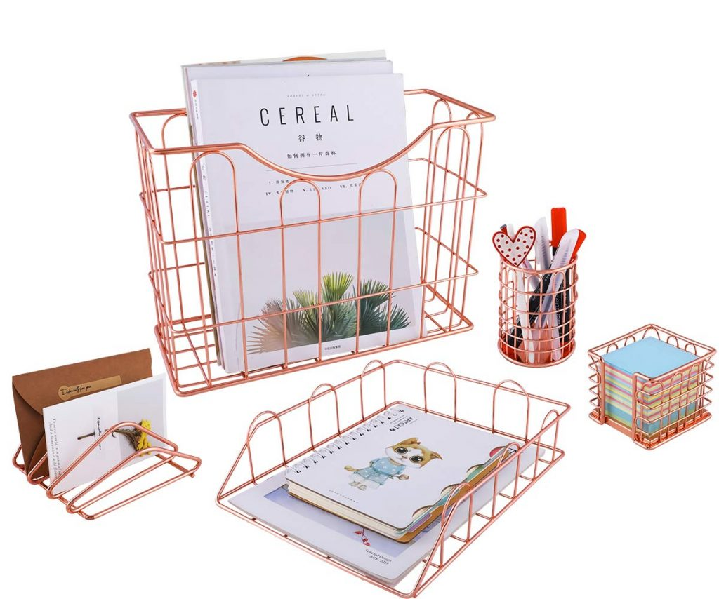 Mother's Day Gifts for Writers   Rose Gold Office Supplies