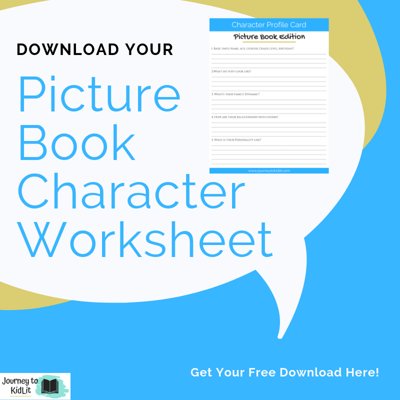 Create characters that kids love in picture books | Character worksheet