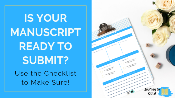 Manuscript Submission Checklist | Make sure your story is ready to submit